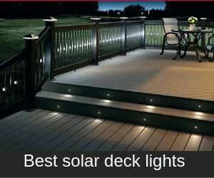best rated solar deck lights